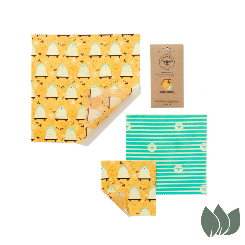 Beeswax Wrap Plastic Free Kitchen Pack