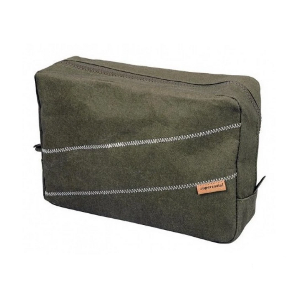 Eco-Friendly Bamboo Toiletry Bag in Green by Zuperzozial