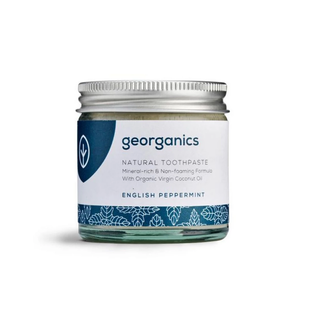 Natural Toothpaste Peppermint Flavour (120ml) by Georganics