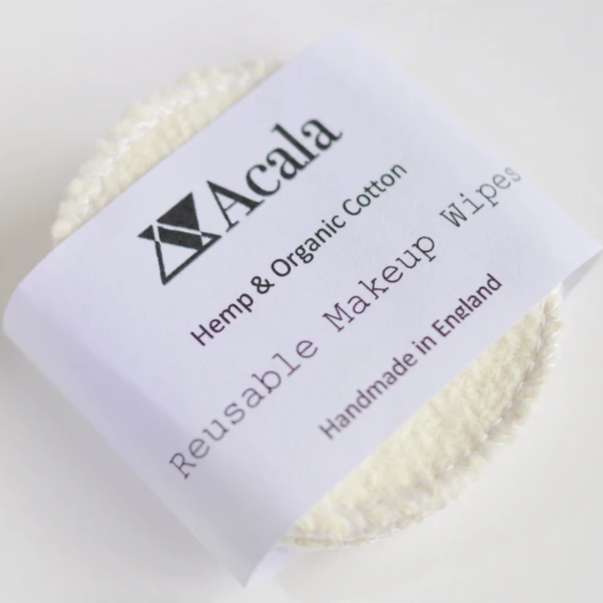 Reusable Hemp Make Up Wipes by Acala