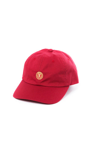 King of the Jungle Dad Hat in Cardinal/Gold