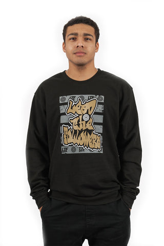 Graffiti Crewneck in Black/Gold