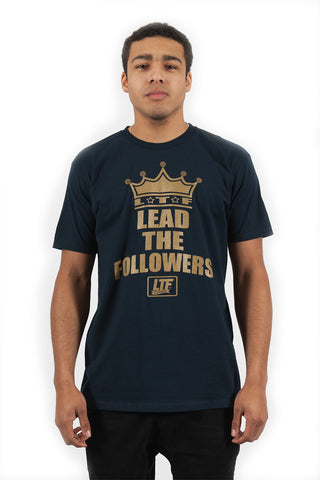 Crown A Tee in Navy