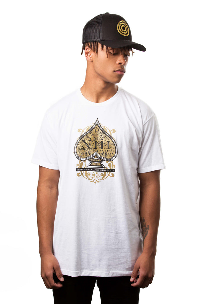 Origins Tee in White/Gold