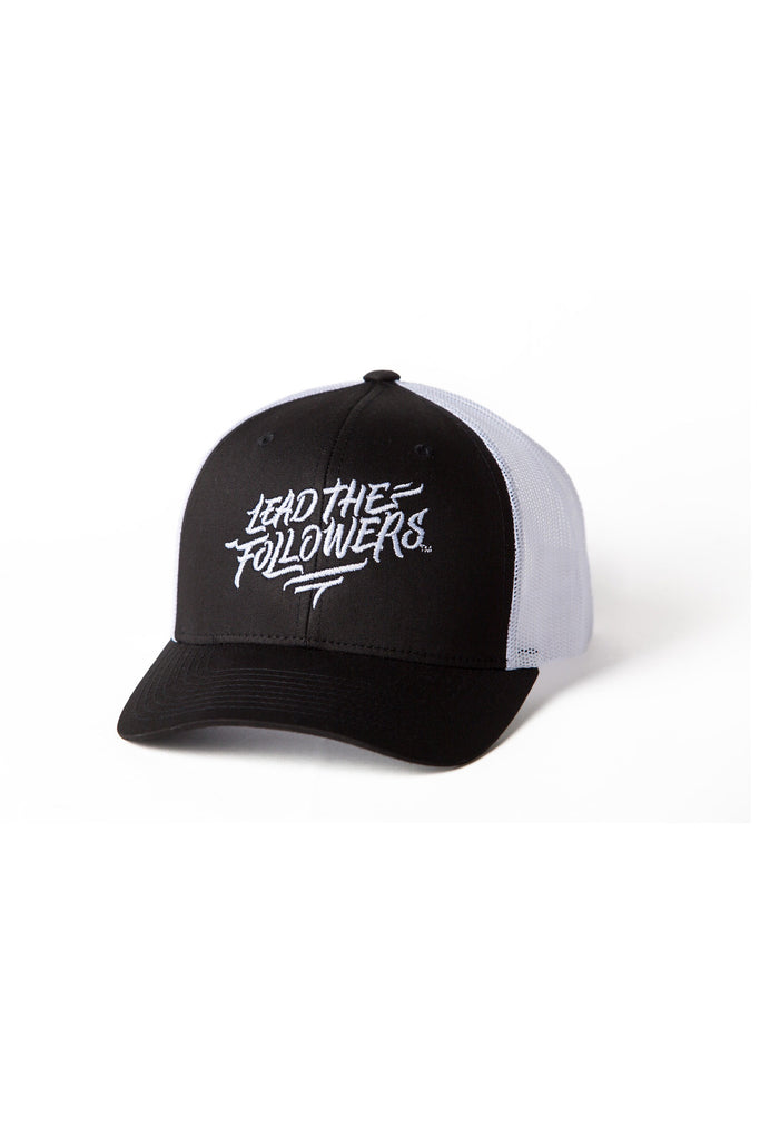 Script Trucker in Black/White