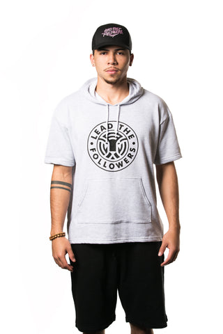 King of the Jungle Short-Sleeve Hoodie in heather