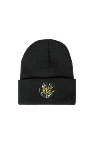 King of the Jungle Beanie in Black/Gold