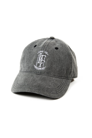 Charisma dad hat in Charcoal Denim/White