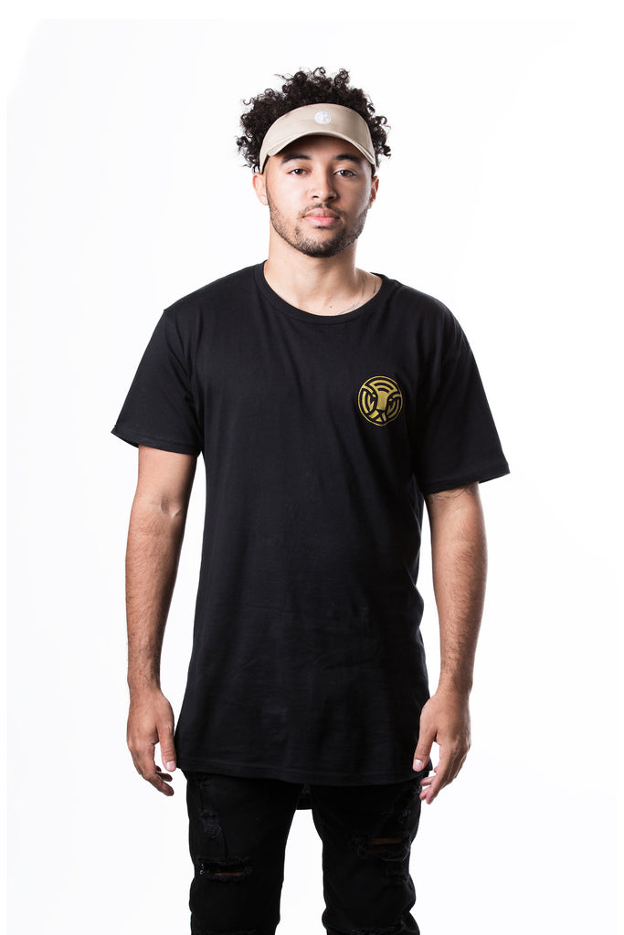 King of the Jungle LTF Long Tee in Black/Gold