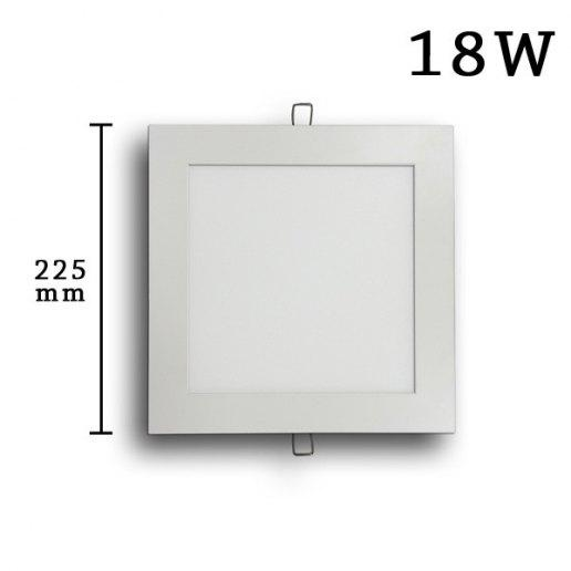 Faretto incasso Led Slim quadrato 18 watt (225mm)