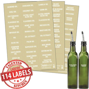 114 Oils, Vinegar & Sauces, White Labels