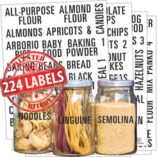 Load image into Gallery viewer, All Caps Bold Pantry & Fridge Labels, 224 Black Labels