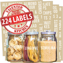 Load image into Gallery viewer, All Caps Bold Pantry & Fridge Labels, 224 White Labels