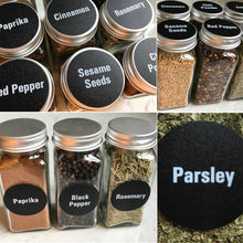 Load image into Gallery viewer, Chalkboard Spice Label Set, 126 Chalkboard Labels