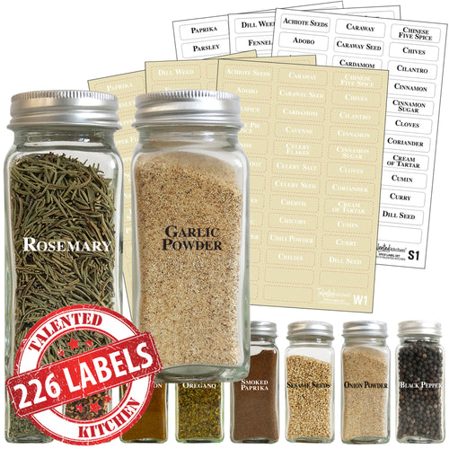 Spice Label Combo Set, 226 Black & White Labels