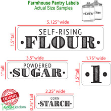 Load image into Gallery viewer, Mega Farmhouse Pantry Label Set, 144 White Labels