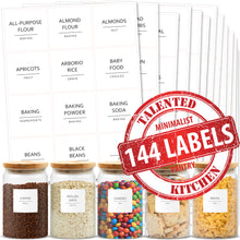 Load image into Gallery viewer, Minimalist Pantry Labels, 144 Labels