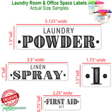 Load image into Gallery viewer, Farmhouse Laundry Room Label Set, 138 Black Labels
