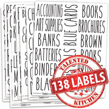 Load image into Gallery viewer, Office Label Set, 138 Black Labels