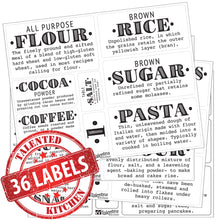 Load image into Gallery viewer, Definitions Farmhouse Pantry Label Set, 36 Black Labels