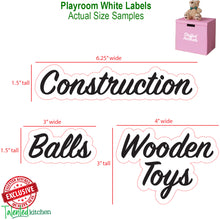 Load image into Gallery viewer, Playroom Label Set, 120 White Labels