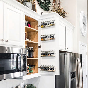 Stainless Steel Spice Racks with 24 Spice Glass Jars