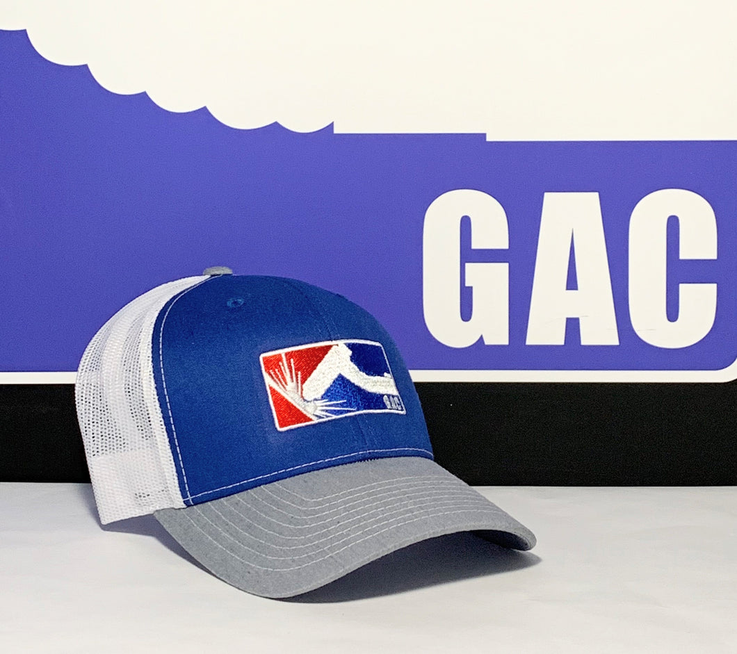 GAC Gray, Royal & White Snapback