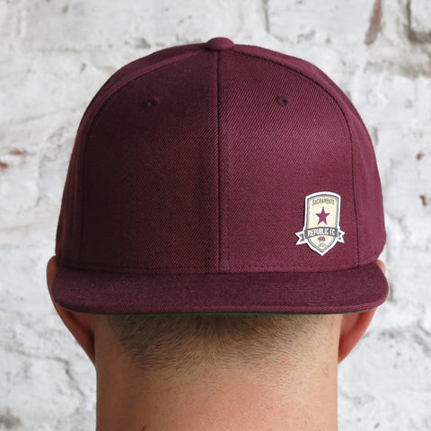 Cotton Twill Snap Back With Subtle Crest