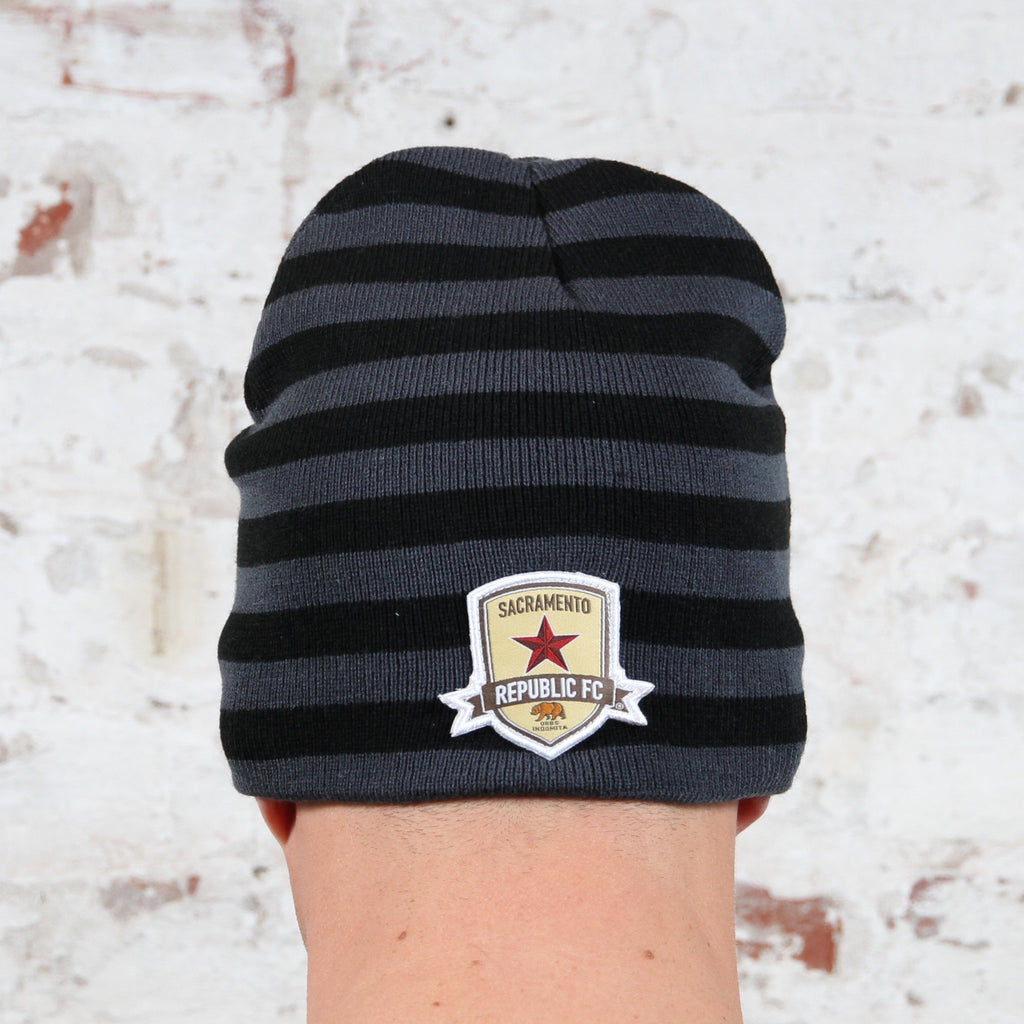 Striped Skull Beanie by Official Brand