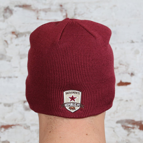 Knit Beanie in Cardinal by '47