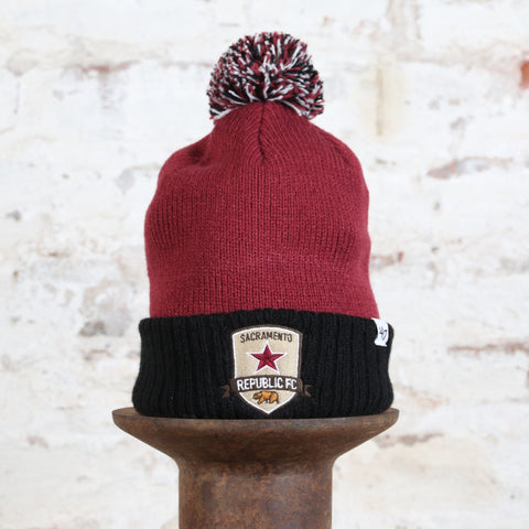 Youth Dunston Pom Beanie in Cardinal by '47