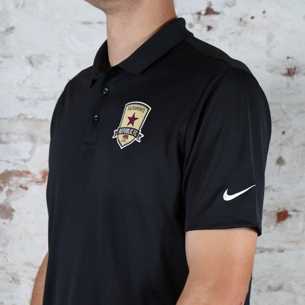 81c80eee1 Men s Nike Victory Polo in Black - Sacramento Republic FC Shop