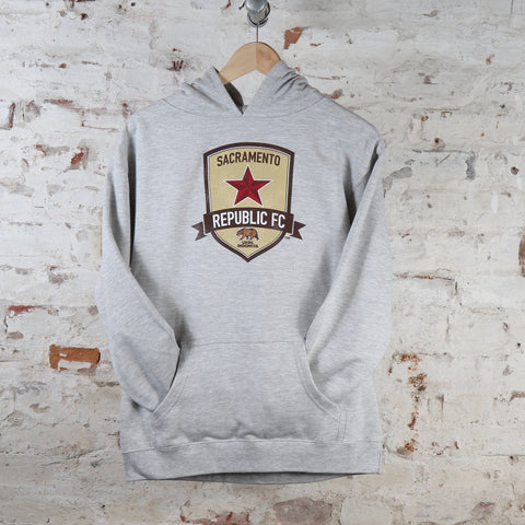 Youth Weathered Crest Hoodie