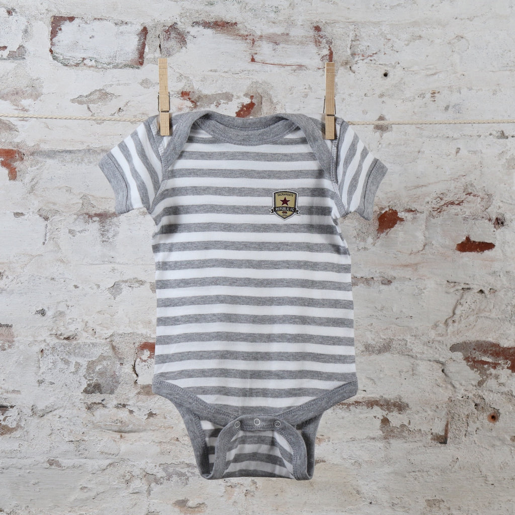 Republic FC Onesie in Gray Heather Stripes