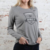 Women's Nike Legend Poly LS Tee in Carbon Heather