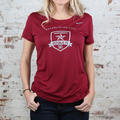 Women's Nike Legend Poly SS Tee in Cardinal