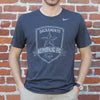 Men's Nike Tri-Blend  SS Tee in Black Heather