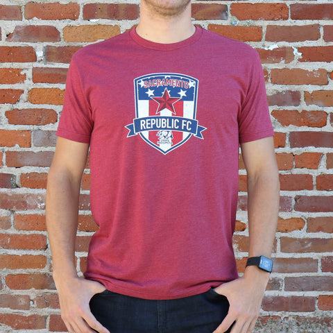 Men's Old Glory Patriotic Tee in Cardinal 2018