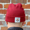 The Cuff Beanie in Red by SDS
