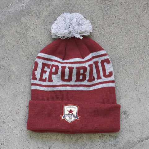 Pom Beanie in Red by SDS