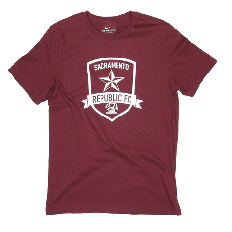 2020 Men's Nike Core Cotton Crew in Deep Maroon