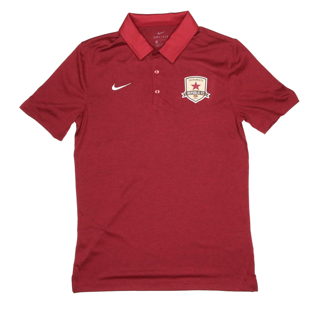 2020 Men's Nike Dri-FIT Polo in Team Maroon