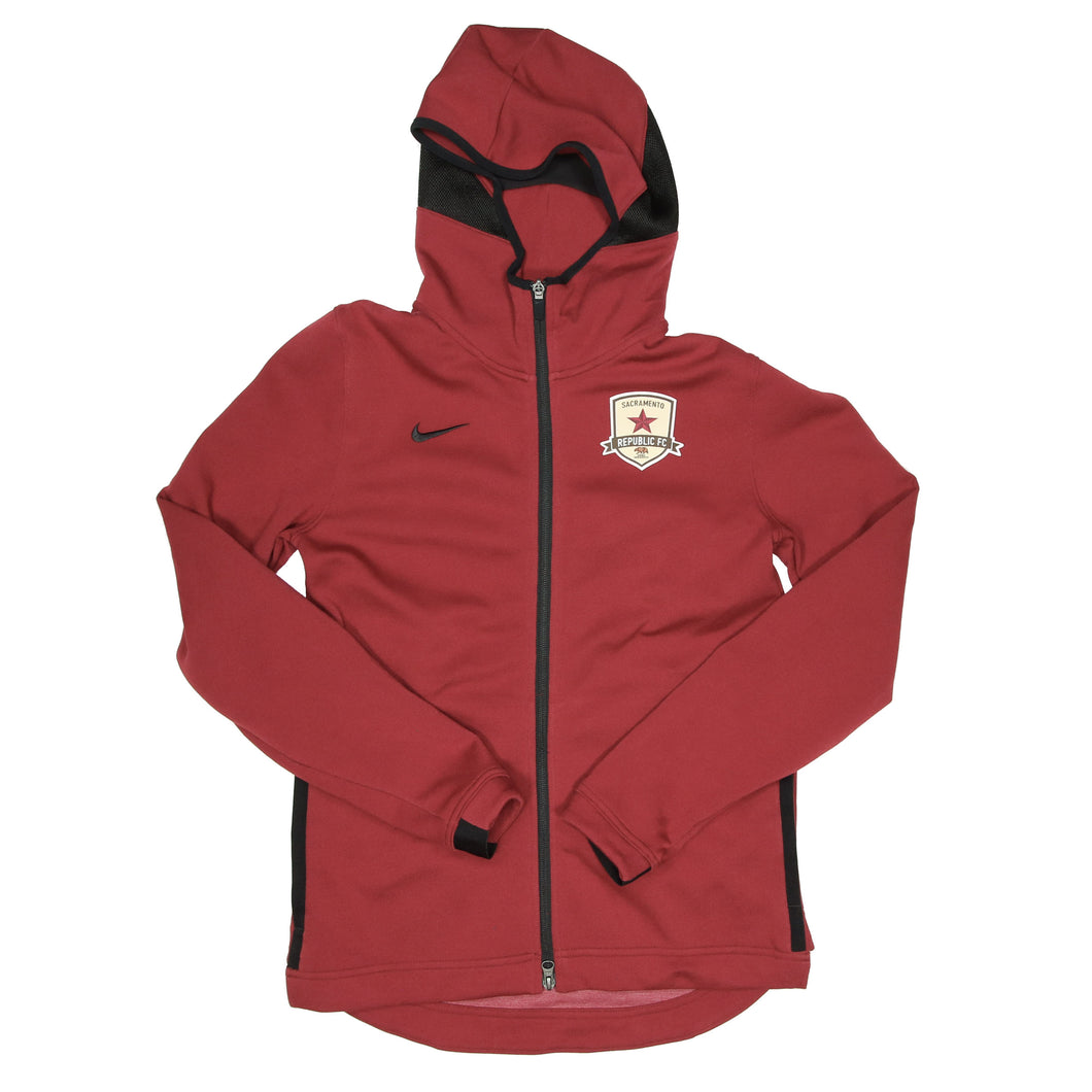 Men's Showtime Full Zip Hoodie in Cardinal