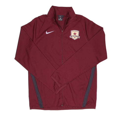 2020 Men's Team Woven Jacket in Dark Maroon by Nike