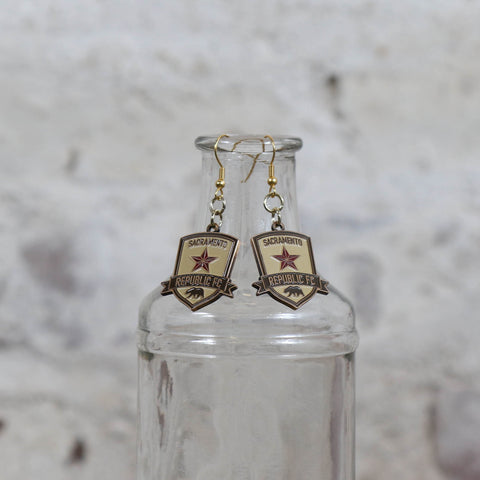 SRFC Antique Gold Charm Earrings
