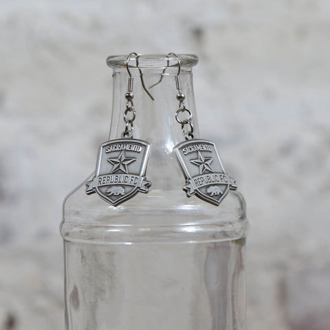 SRFC Antique Silver Charm Earrings