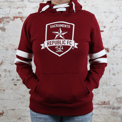 Women's Retro Drawstring Hoodie by SDS