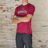 Men's Distressed Republic FC Tee in Crimson Heather