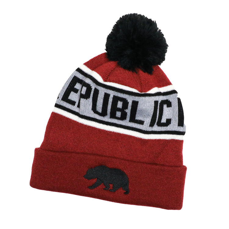 Tazzle Pom Beanie in Red by SDS