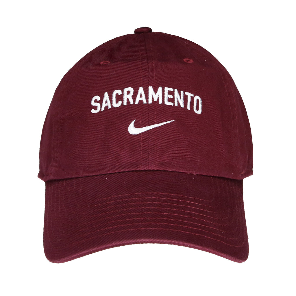 Campus Cap in Dark Maroon by Nike